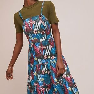 Anthropologie Tiered Mosaic Dress by Eva Franco